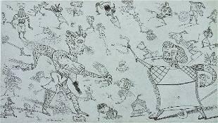 1029: Jim Nutt, (American, b. 1938), A Pair of Prints,