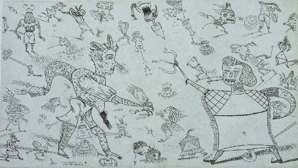 Jim Nutt, (American, b. 1938), A Pair of Prints,
