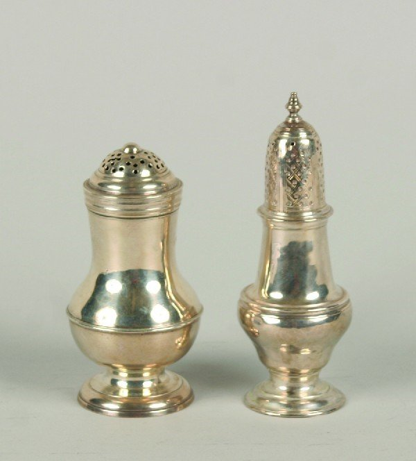 1531: A Group of Two Georgian Silver Casters, London, H