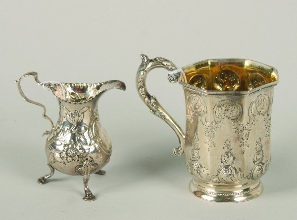 1534: A George III Silver Creamer, London, Height of cr