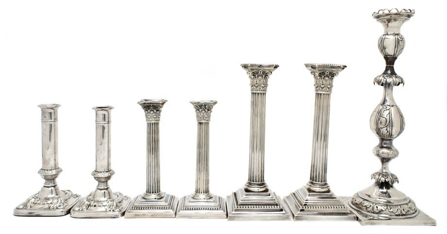 2: A Set of Four American Sterling Silver Candlesticks,