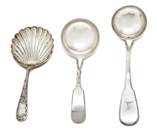 3: Three Silver and Silverplate Flatware Articles, Leng
