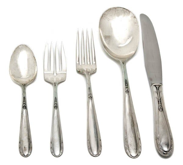 5: An American Sterling Silver Flatware Service for Eig