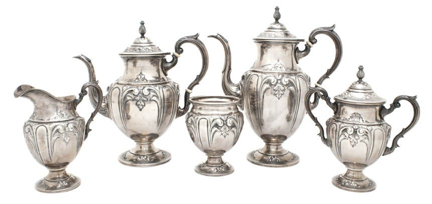 7: An American Sterling Silver Tea Service, M. Fred Hir