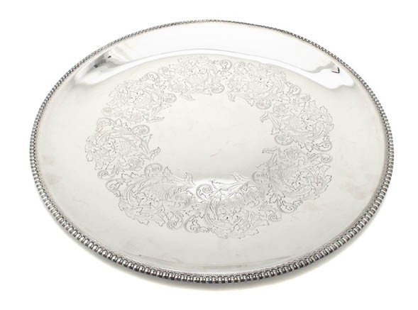8: An American Silverplate Serving Tray, Wilcox, Diamet