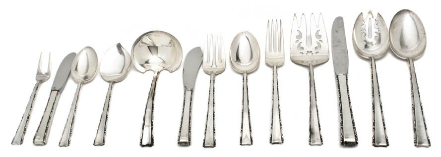 11: An American Sterling Silver Flatware Service for Tw