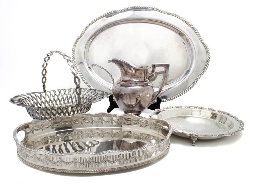 13: A Group of English and American Silverplate Serving