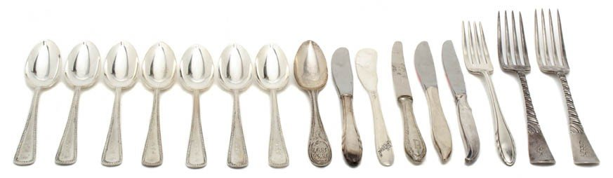 14: A Set of Seven American Sterling Silver Teaspoons,