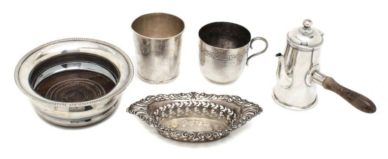 19: A Collection of Sterling Silver and Silverplate Art