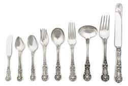 21 An American Sterling Silver Flatware Service for Tw