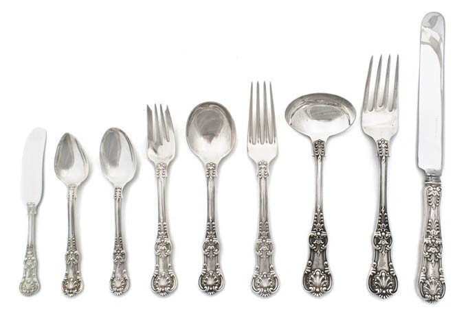 21: An American Sterling Silver Flatware Service for Tw
