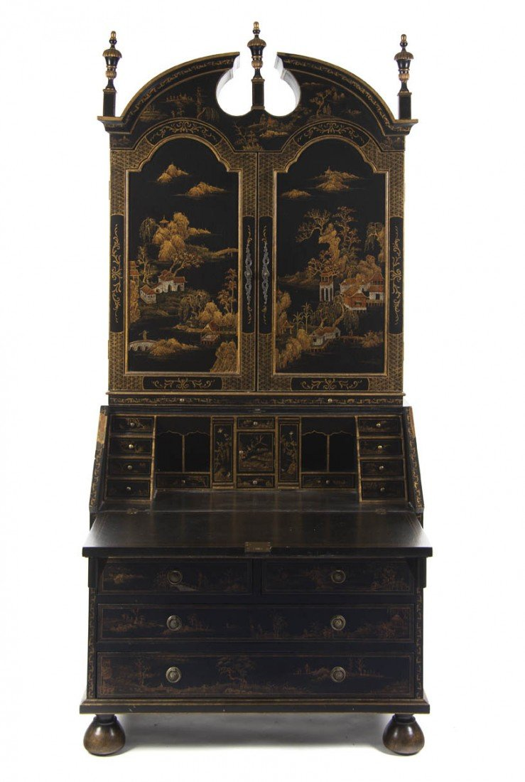 6: A Continental Gilt and Lacquered Secretaire, Height
