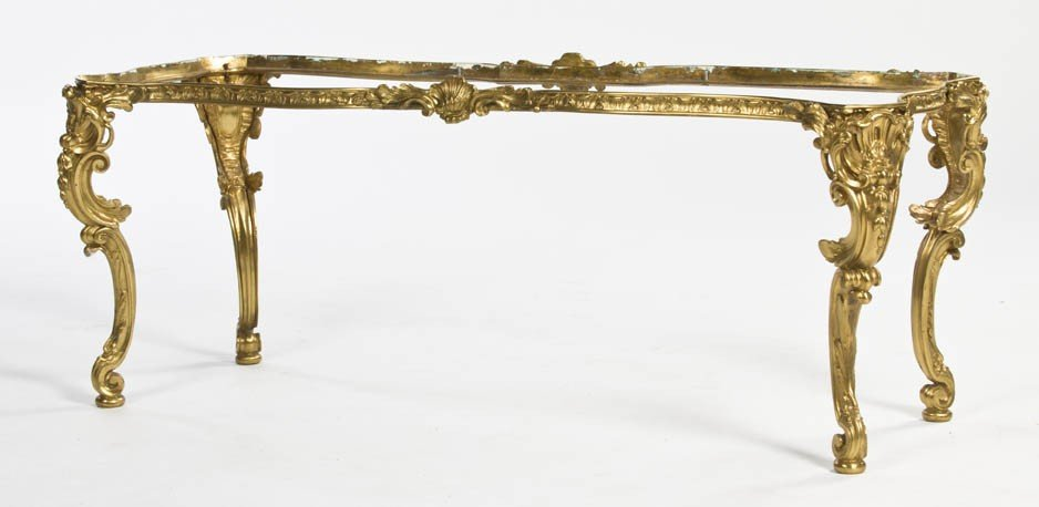 7: A Rococo Style Gilt Metal Occasional Table, Height 1
