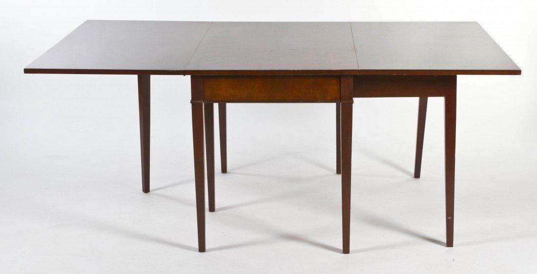 8: A Georgian Style Mahogany Gate-Leg Table, Height 29
