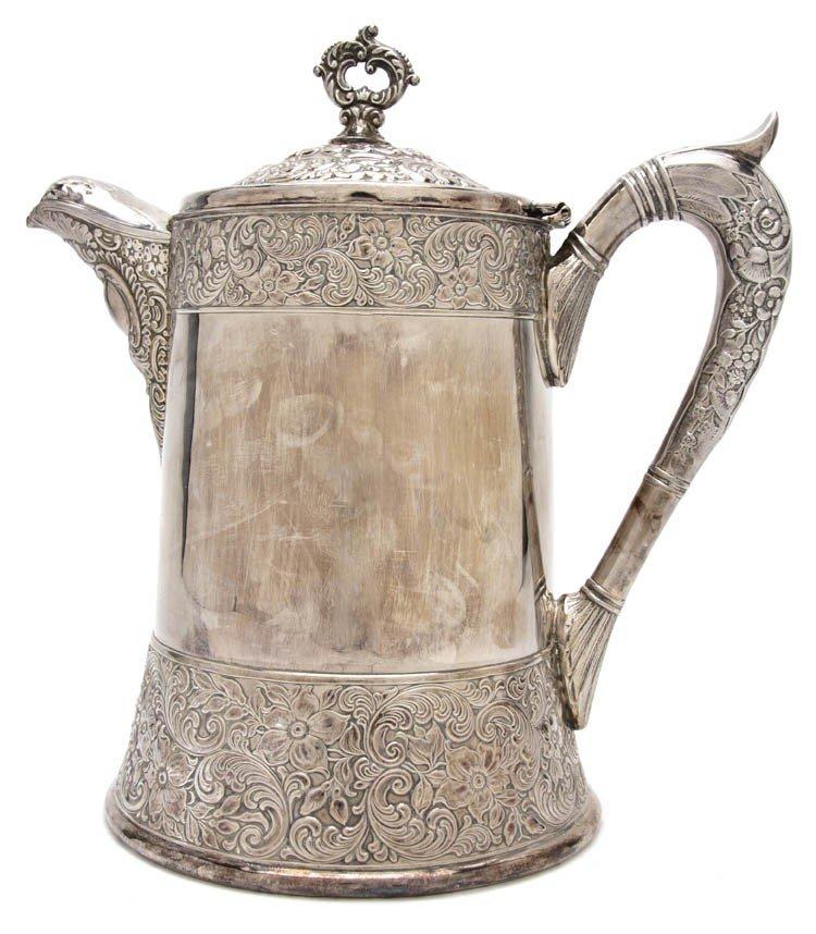 335: An American Silverplate Coffee Pot, E.G. Webster &