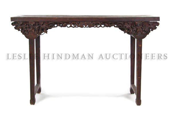 348: A Chinese Camphor Wood Altar Table, Height 43 x wi