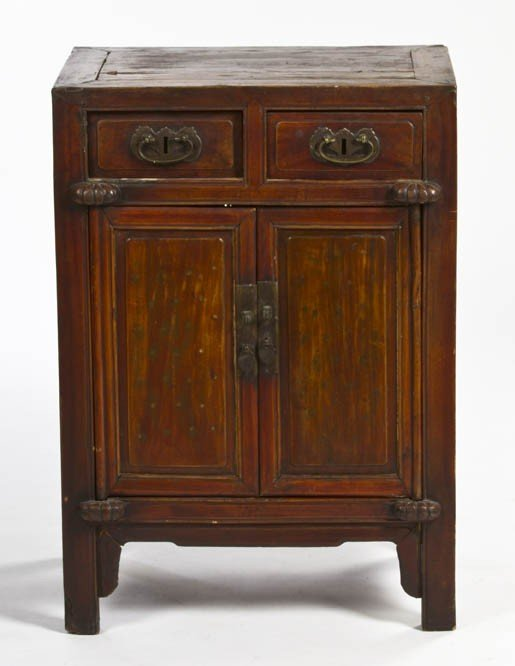352: A Chinese Side Cabinet, Height 34 1/8 x width 24 1