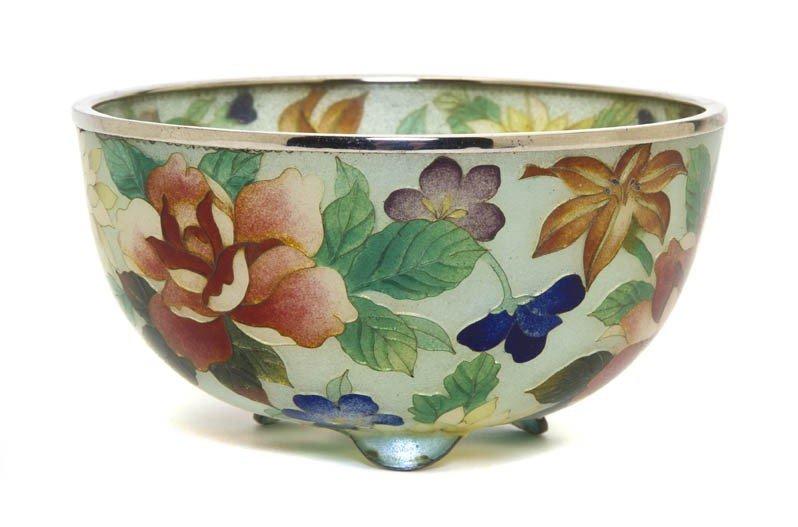 358: A Chinese Plique-a-Jour Bowl, Diameter 4 1/2 inche