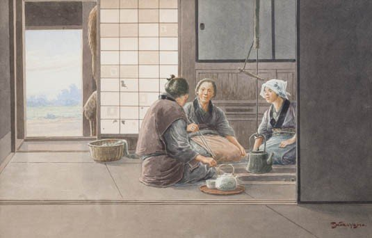 368: A Watercolor Painting, Takashi Nakayama, Height 19