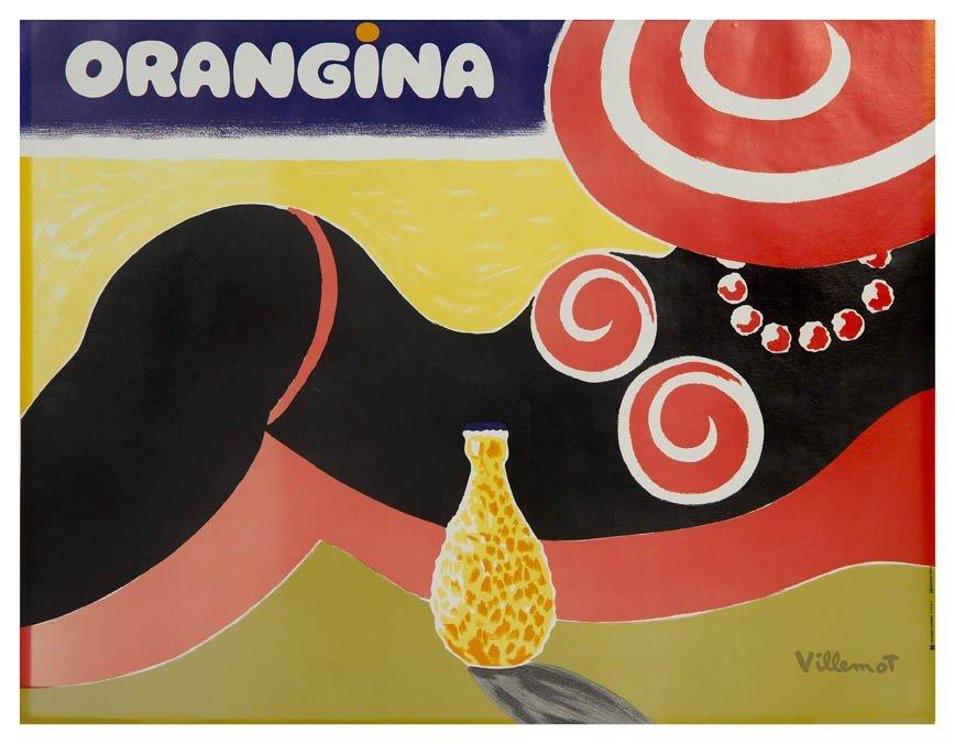 614: Bernard Villemot, (French, 1911-1989), Orangina