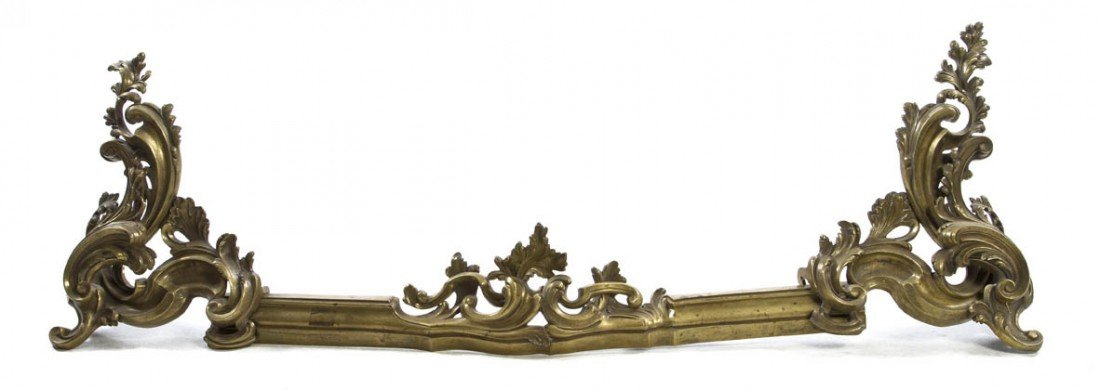 23: A Pair of Louis XV Style Gilt Bronze Chenets, Width