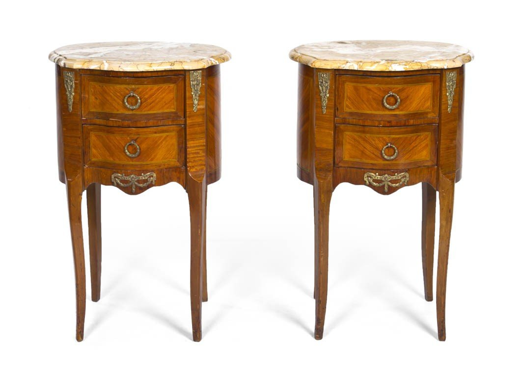 162: A Pair of Louis XVI Style Chests, Height 27 1/2 x