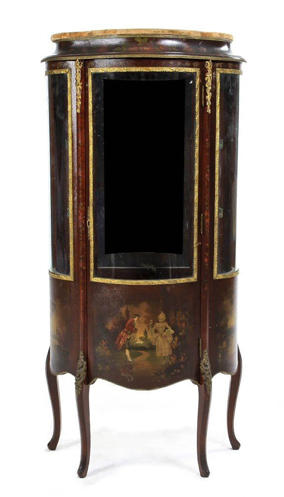 164: A Louis XVI Style Gilt Metal Mounted and Vernis Ma