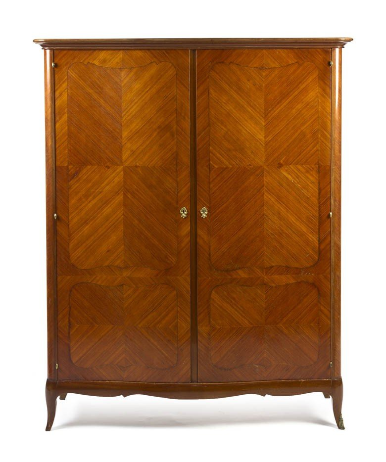 166: A Louis XVI Style Parquetry Decorated Armoire, Hei