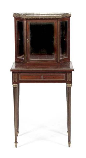 169: A Louis XVI Style Mahogany Display Cabinet on Stan