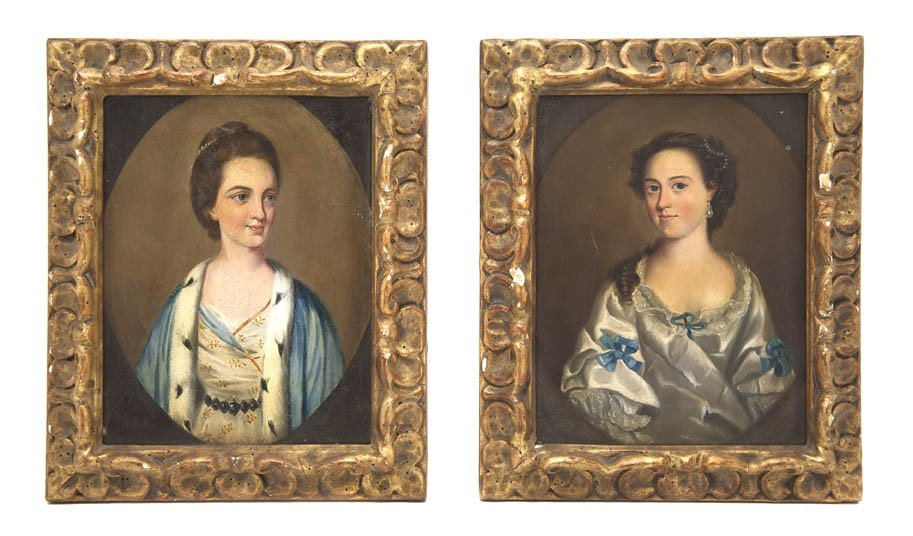 513: A Pair of English Portraits on Copper, Height 7 1/