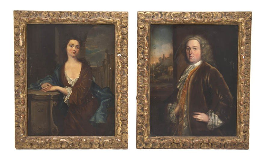 514: A Pair of English Paintings on Copper, Height 10 1