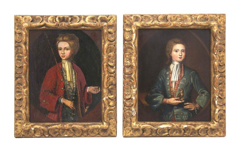 515: A Pair of English Portraits on Copper, Height 7 1/
