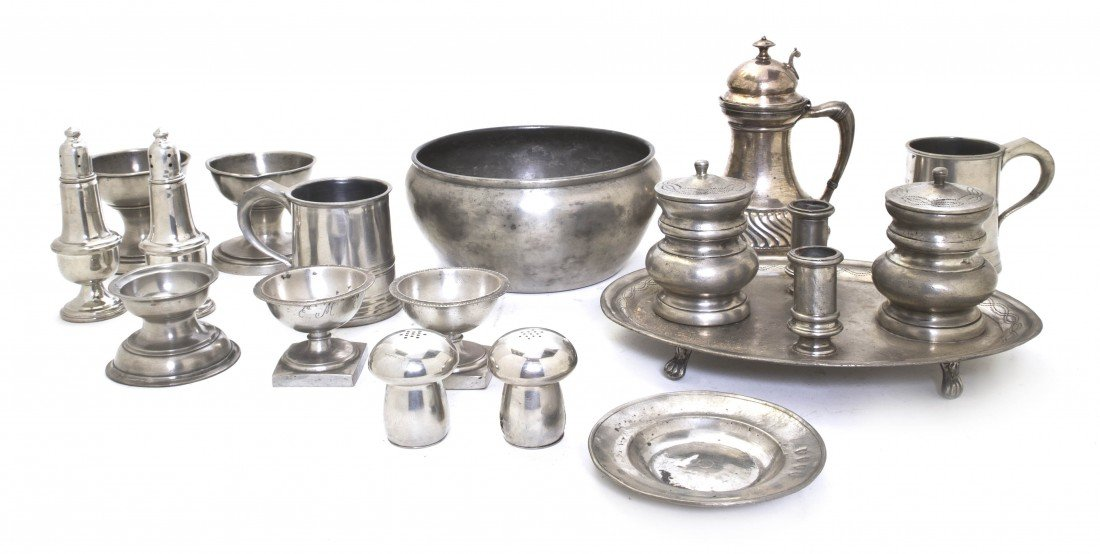 525: A Collection of Pewter Articles, Height of tallest