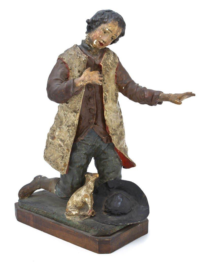 527: A Continental Papier Mache Figure, Height overall