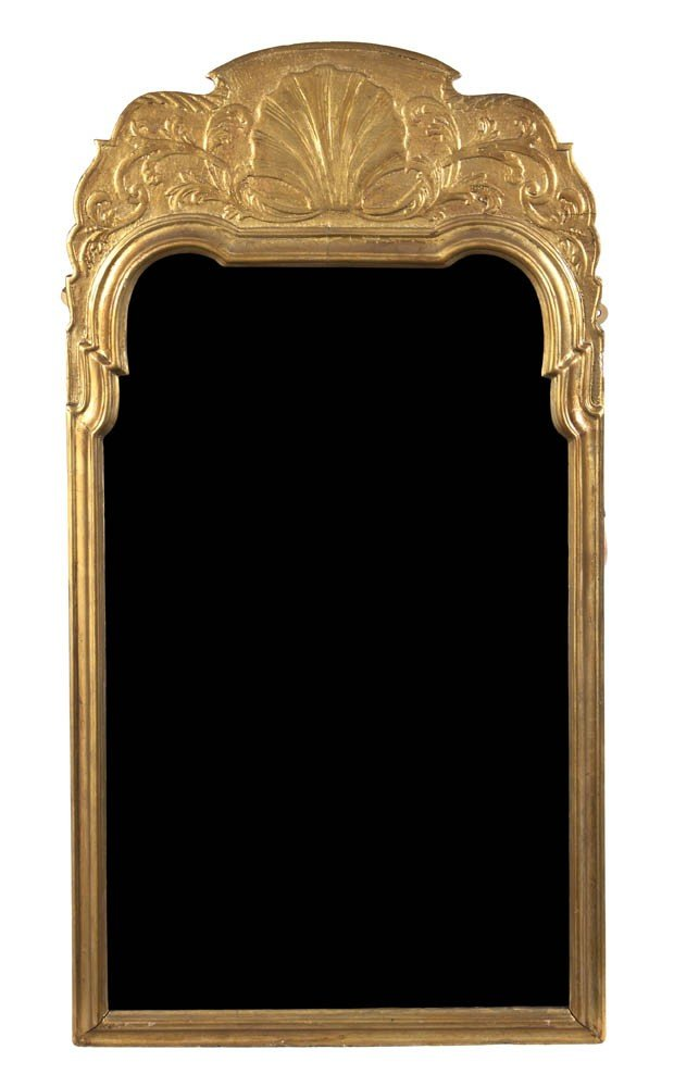 530: A George II Style Giltwood Pier Mirror, Height 39