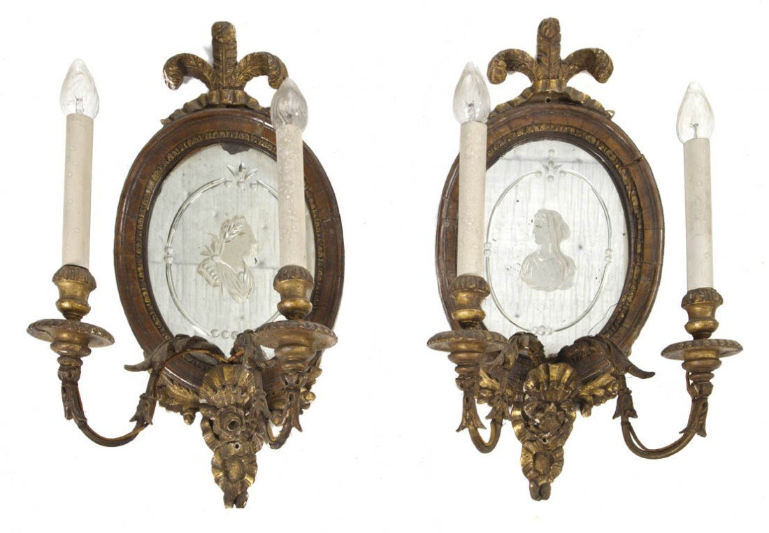 531: A Pair of Georgian Giltwood Wall Appliques, Height