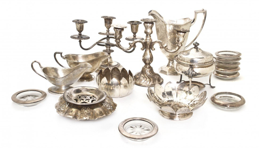 680: A Collection of Silverplate Articles, Height of ta