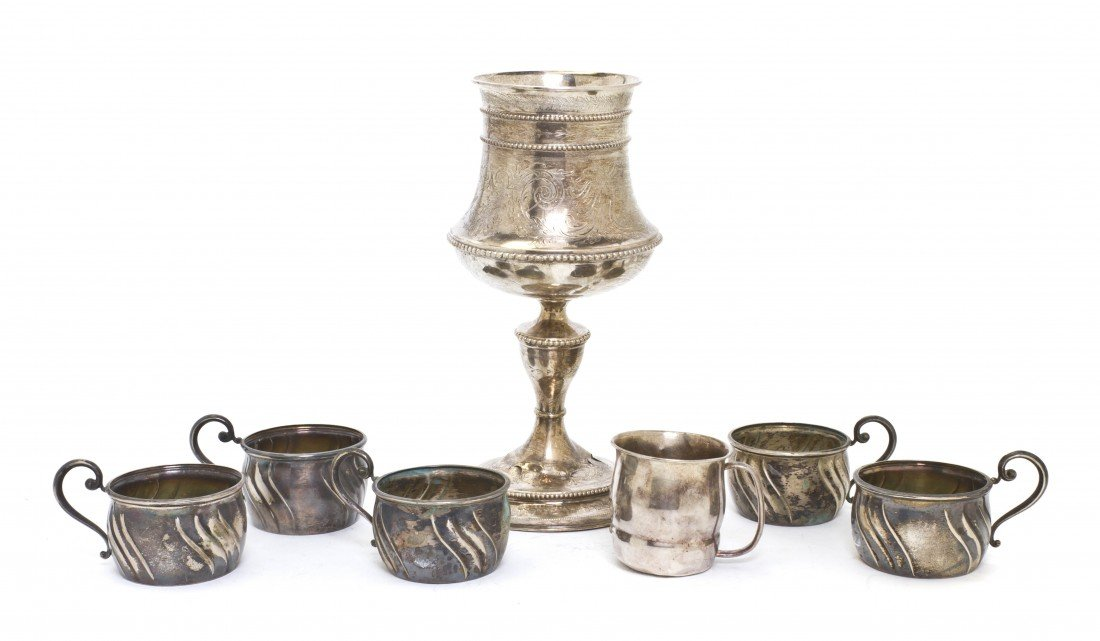 688: A Continental Silver Chalice, Height of first 9 3/