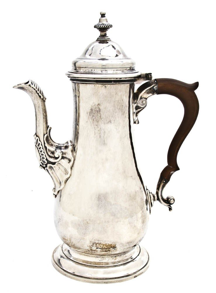 693: A Canadian Sterling Silver Chocolate Pot, Birks, H
