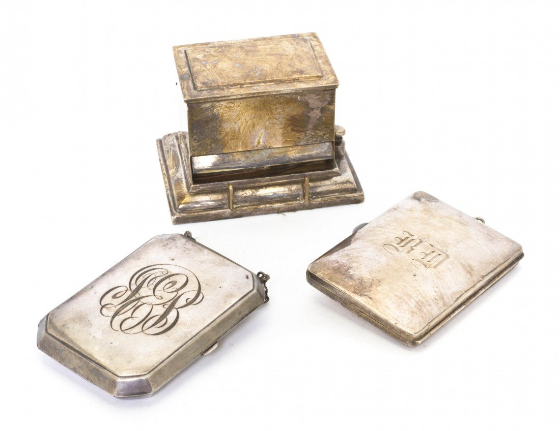 701: Two American Sterling Silver Pocket Books, Height