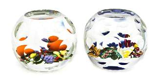 894 Two Perthshire Glass Paperweights Height of talle