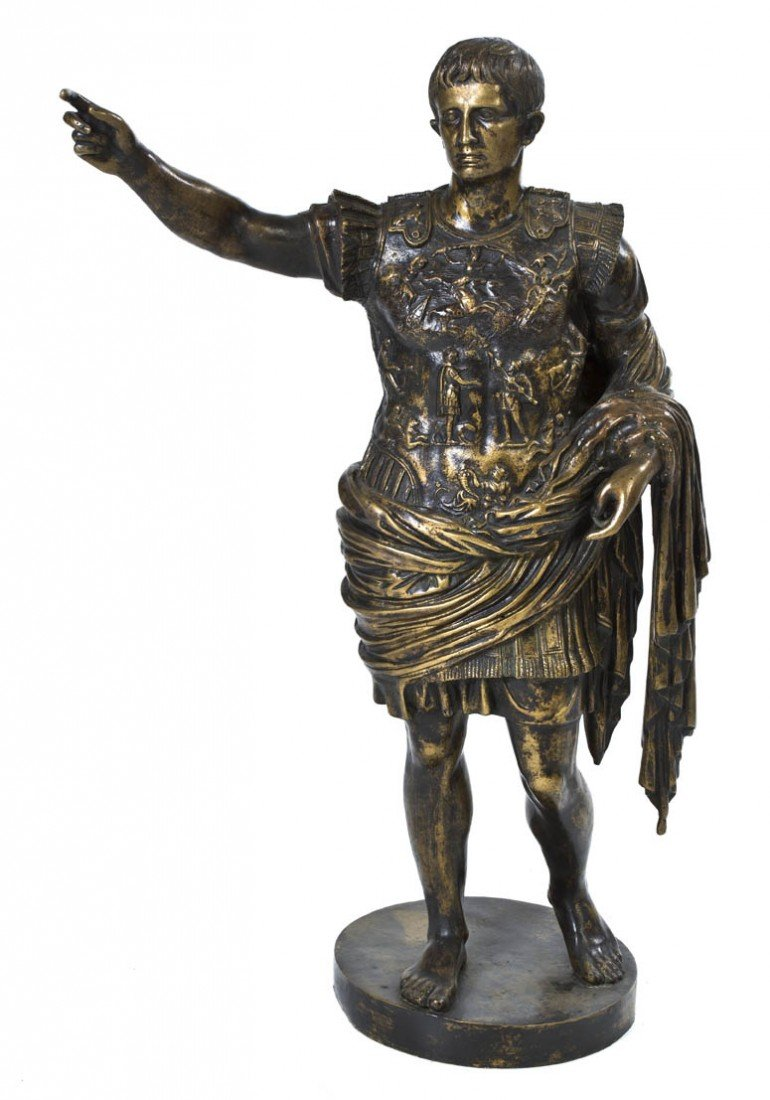 1004: A Continental Bronze Figure, after the Antique, H