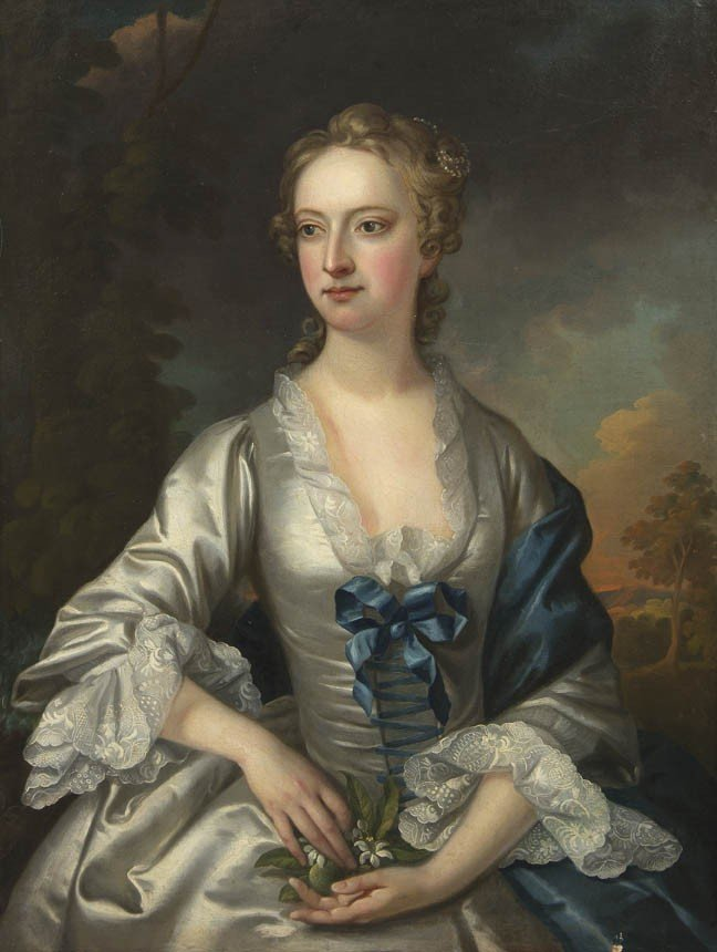 1070: Attributed to Thomas Hudson, Portrait of a Lady B