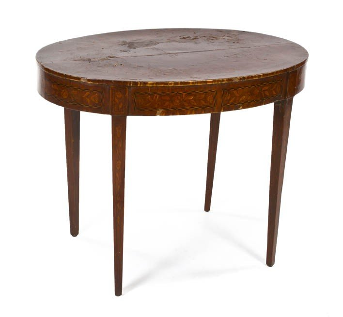 1077: A Continental Marquetry Occasional Table, Height