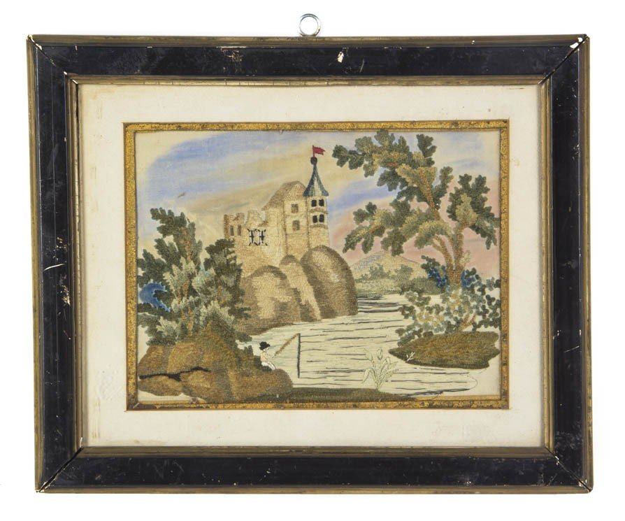 11: An English Needlework Picture, Height overall 9 5/8
