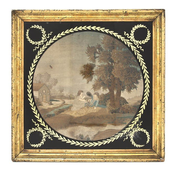 15: An English Needlework Picture, Height overall 18 7/