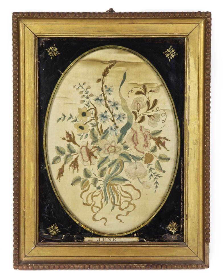 16: A Continental Needlework Picture, Height overall 17