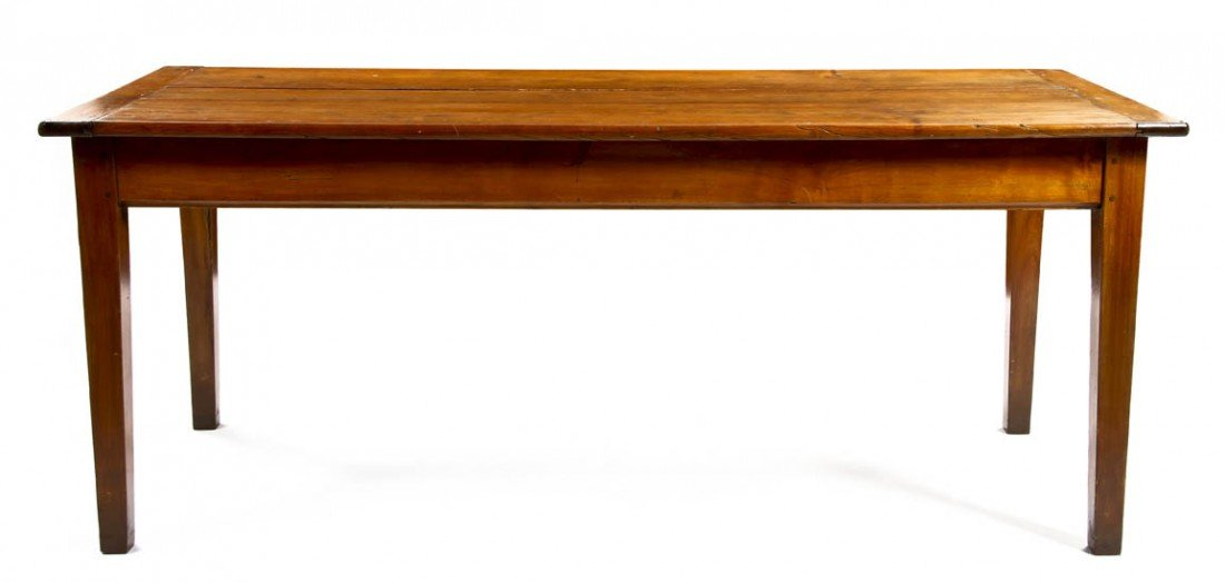 23: A Provincial Pine Work Table, Height 30 1/2 x width