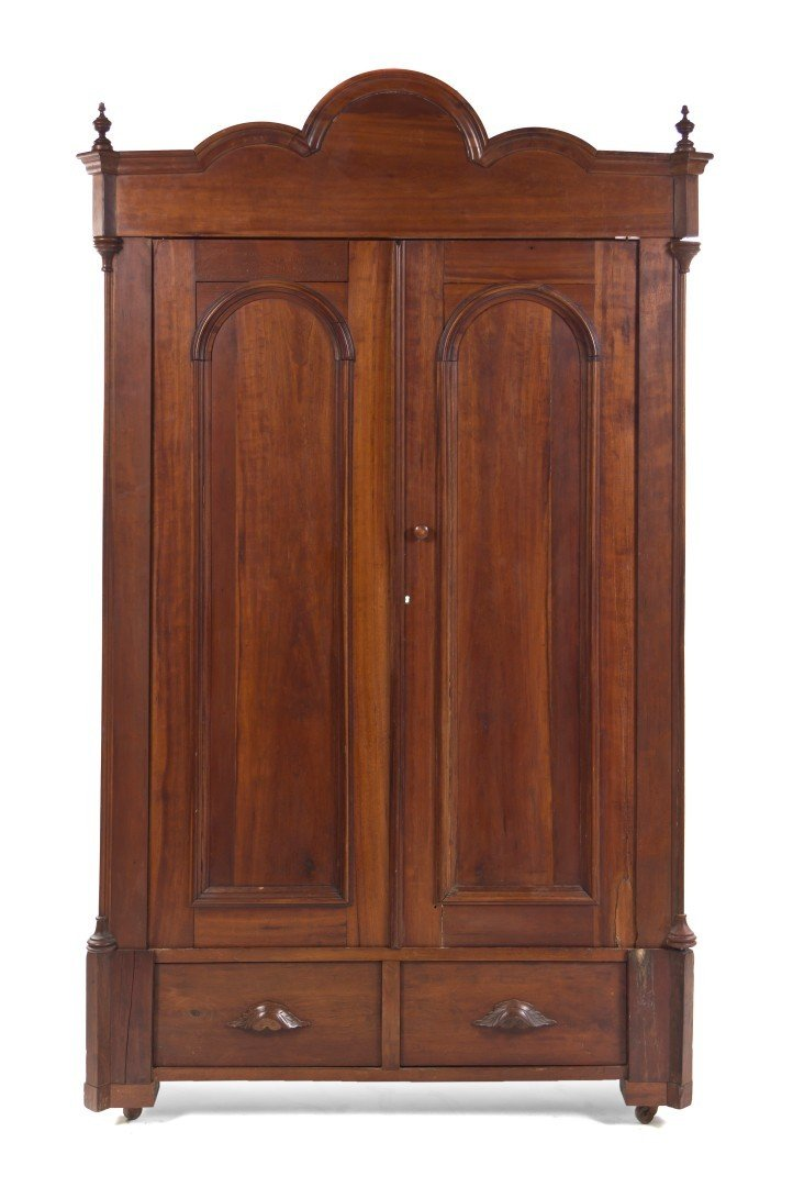 529: An American Cherry Knock Down Armoire, Height 88 3