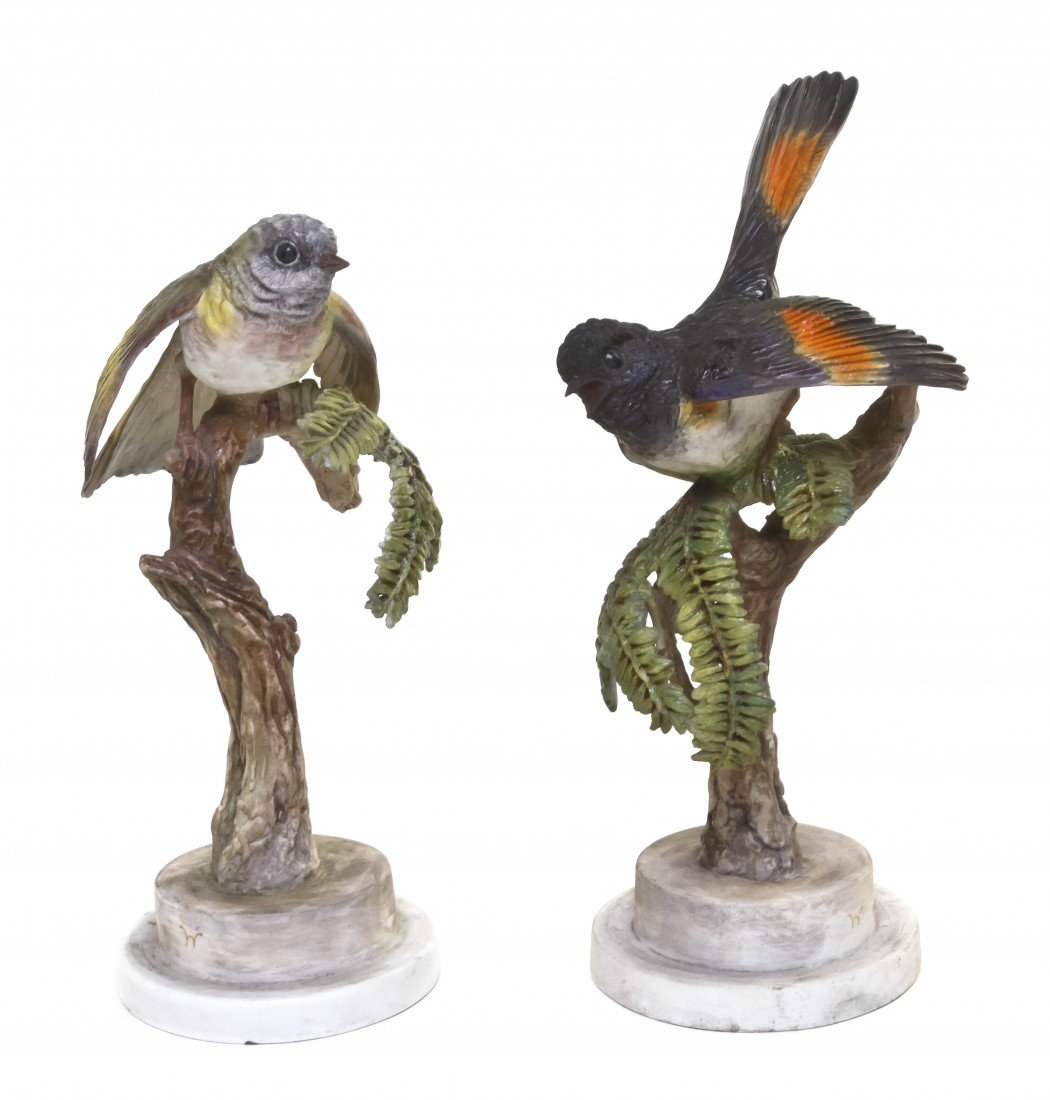 873: A Pair of Royal Worcester Dorothy Doughty Birds, A